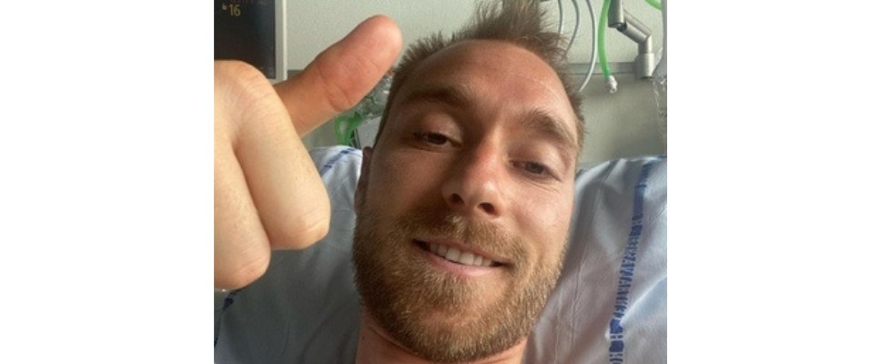 Eriksen sorride ospedale Copenhagen